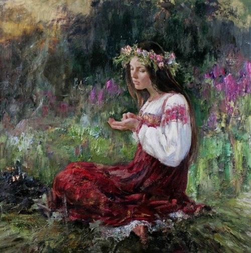 Русские красавицы в живописи Анны Виноградовой. Картина 2
