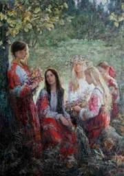 Русские красавицы в живописи Анны Виноградовой. Картина 1