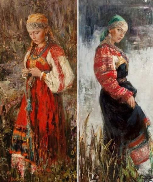 Русские красавицы в живописи Анны Виноградовой. Картина 5