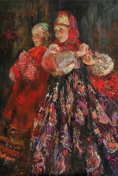 Русские красавицы в живописи Анны Виноградовой. Картина 4