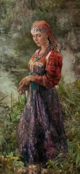 Русские красавицы в живописи Анны Виноградовой. Картина 8