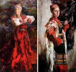 Русские красавицы в живописи Анны Виноградовой. Картина 6