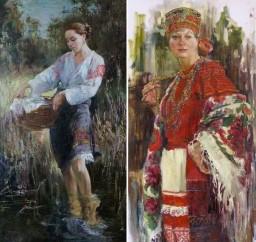 Русские красавицы в живописи Анны Виноградовой. Картина 7