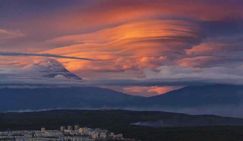 Закат на Камчатке