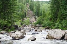 Река и водопад Богунай. Красноярский край ЗАТО г. Зеленогорск 3