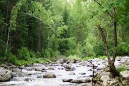 Река и водопад Богунай. Красноярский край ЗАТО г. Зеленогорск 2