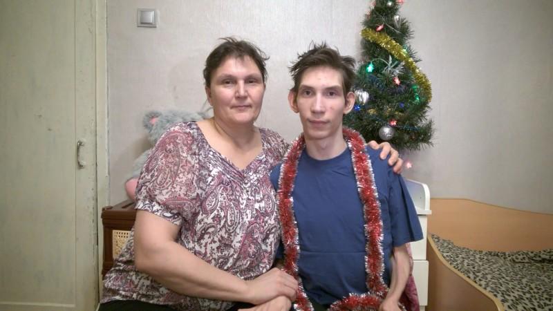 31 декабря 2016 года: младший сын и я.