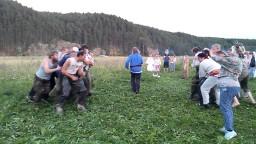Молодецкие забавы - стеношный бой на празднике День Перуна в общине Сварожич