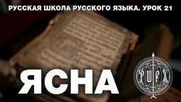 Русская Школа Русского Языка. ЯСНА. Урок 21. Виталий Сундаков