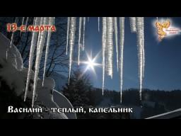 Братья месяцы    13-е марта  Василий-теплый, капельник.
