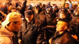 Митингующие разбушевались. Митинг Навального. Питер 7 октября
