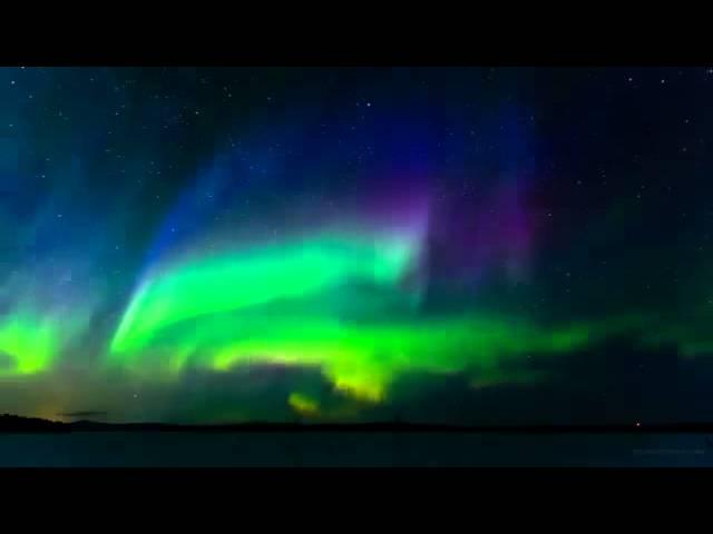 Красота северного сияния и красивая музыка