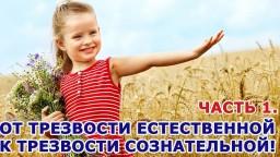 Воспитание детей Часть 1. От Трезвости естественной к Трезвости сознательной.