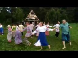 Хороводы на празднике Купала в Родовом поселении Жива