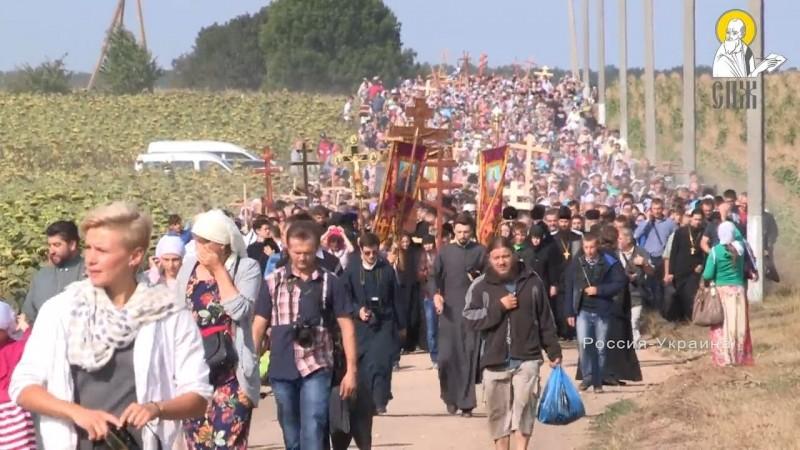 35 тысяч вышло под Винницей на Крестный ход. Иосафатова долина.