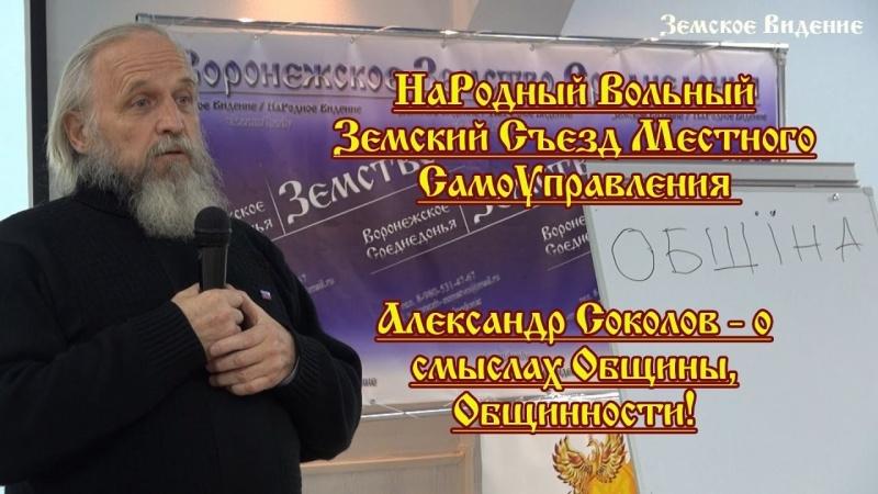 О смыслах Общины. Александр Соколов