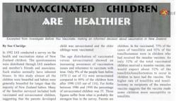 Разбираемся с прививками  Часть 6  Непривитые